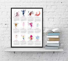 2017 Wall Calendar Fairy Calendar Printable Calendar 2017 Kids Room Calendar Girls Room Calendar Home Decor Instantdownloadart1 2597443 Weddbook