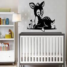 Baby Deer Wall Decal Vinyl Sticker Art Wall Removable Nursery Kids Room Decor 16nry3