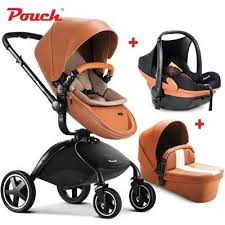 leather baby stroller 0 3 years pram