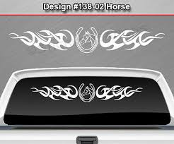 138 02 Horse Horseshoe Rear Window Decal Sticker Graphic Tribal Curls Truck Car Ebay