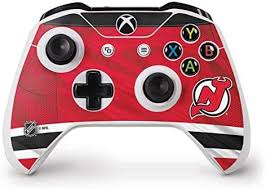 Amazon Com Skinit Decal Gaming Skin Compatible With Xbox One S Controller Officially Licensed Nhl New Jersey Devils Home Jersey Design Electronics