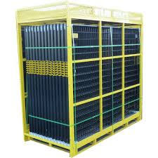 Perimeter Patrol 6 Ft X 210 Ft 28 Panel Black Powder Coated Welded Wire Temporary Fencing Rf 12805 The Home Depot