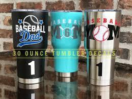 Baseball Mom Dad Tumbler Decal Baseball Mom Decal Baseball Etsy