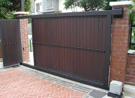 Exterior Design Vertical Slat Fence In Beautiful Ideas For Automatic Gate Openers Design With Sliding Gate And D Home Gate Design Front Gate Design Gate House