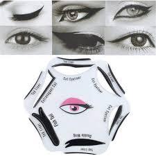 cat eyes eyeliner shapes stencil