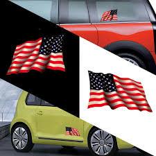 1 Pair 15 12cm American Flag Waving Sticker Car Body Window Decal Pet Decoration Ebay