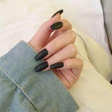 matte beige nails coffin hobby ane