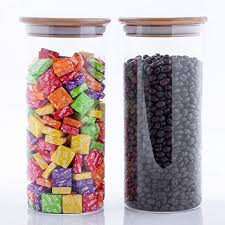 stackable glass food storage jars