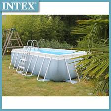 Intex 26788 Prism Frame Rectangular Pool 4m X 2m X 1m Shopee Philippines