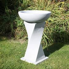 sculptures garden bird bath