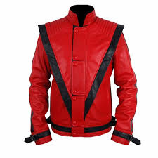 michael jackson thriller red leather