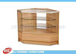 durable mdf glass wood display cabinets