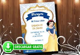 Invitacion Blanca Nieves Digital Gratis Mega Idea