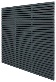 6ft Forest Double Sided Slatted Panel Anthracite Grey Pressure Treated Elbec Garden Buildings