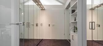 door pull handle on a mirrored door