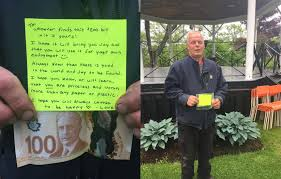 Image result for images of mysterious $100 bill and note in Nova Scotia
