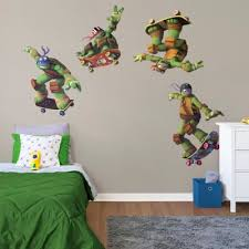 Teenage Mutant Ninja Turtles Goofy Faces Collection X Large Officially Licensed Nickelodeon Removable Wall Decals Wall Decal Shop Fathead For Teenage Mutant Ninja Turtles Decor