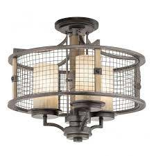 ceiling pendant with mesh surround
