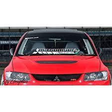 Amazon Com Gy Vinyl Arts Mitsubishi Windshield Decal Sticker Compatible Mitsubishi Cars Automotive