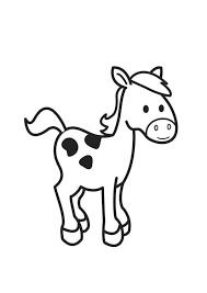 Kleurplaat Paard Kleurplaten Paarden Boerderijdieren