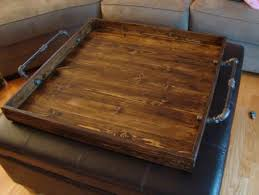 industrial style ottoman tray rustic