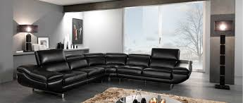 modern living room with black furniture