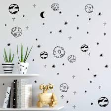 Planet Wall Sticker Kids Room Removable Diy Solar System Wall Decor Decals Astronomy Nursery Art Stickers Space Decoration Zb578 Space Decoration Stickers Spacewall Sticker Kids Room Aliexpress