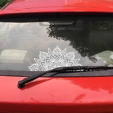 Mandala Car Decal Half Mandalas Sacred Geometry Laptop Vinyl Sticker Boho Hippie Bohemian Spiritual For Apple Macbook Decor Car Stickers Aliexpress