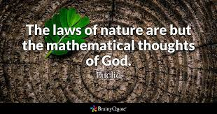 euclid the laws of nature are but the mathematical