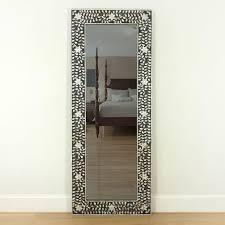 black mother of pearl floor mirror