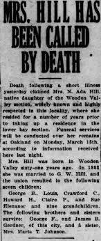 Obituary for N. Ada Hill - Newspapers.com