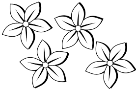 flower clipart black and white free