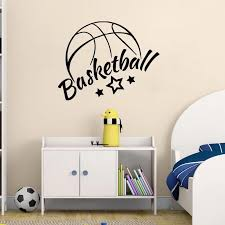Yoyoyu Wall Decal Sports Vinyl Wall Stickers For Boys Bedroom Quotes Basketball Headboard Home Decor Art Mural Child Gifts Sy656 Vinyl Wall Stickers Wall Stickerstickers For Aliexpress