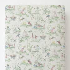 nursery rhyme toile toddler bed sheet