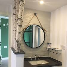 simple iron wall mount bathroom mirror
