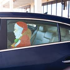 Fox Valley Traders Backseat Santa Snowman Car Window Stickers