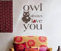 Owl Always Love You Wall Decal Trading Phrases