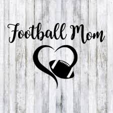 Nike Other Football Mom Heart Car Window Decal Poshmark