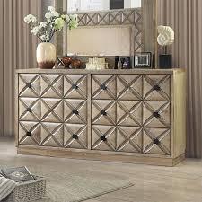 Furniture of America Perry Wood 6-Drawer Dresser in Weathered Light Oak -  Walmart.com - Walmart.com