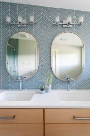 oval bathroom mirrors in decors