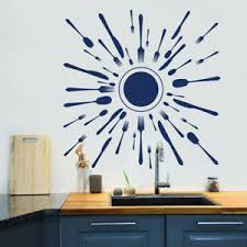 Kitchen Utensil Wall Decal Fork And Spoon Set Decal Kitchen Decor Sticker Ma157 Ebay