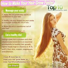 how to make your hair grow faster top