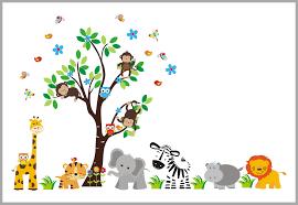 Safari Playtime Jungle Wall Decal Boy S Nursery Theme Baby Decor Nurserydecals4you