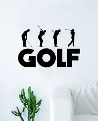 Golf Swing Decal Sticker Wall Vinyl Art Home Decor Inspirational Sport Boop Decals