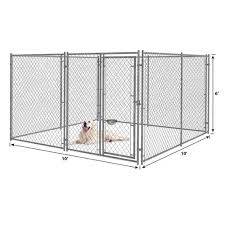 Master Paws 6 X 10 Galvanized Chain Link Kennel Panel At Menards