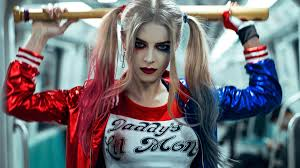 harley quinn makeup wallpaper 2020