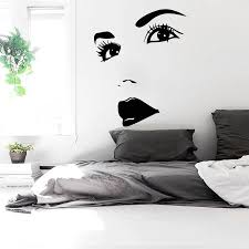 Wall Decals Woman Girl Eyes Joy Face Fashion Vinyl Decal Sticker Home Art Mural Room Bedroom Beauty Salon Decor Sticker Yo 92 Decorative Stickers Decal Stickerstickers Home Aliexpress