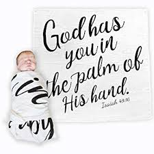 com baby swaddle scripture blanket bible verse quote