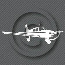 Piper Cherokee Airplane Decal Aircraft Hobby Pilot Aviation Plane Sticker Ebay