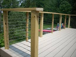 Wire Fencing For Decks Ideas Chicken Wood Deck Railing Residential Home Elements And Style Hog Tension Kits Mesh Designs Redwood Fence Crismatec Com